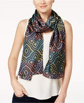 Echo Geo Medallion Silk Oblong Scarf