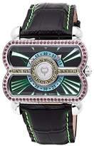 Brillier Women's 24-02 Analog Display Swiss Quartz Black Watch