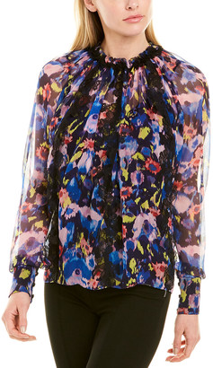 Jason Wu Collection Printed Silk Top