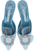 Manolo Blahnik Maysale Jewel 50 Mule in Blue | FWRD