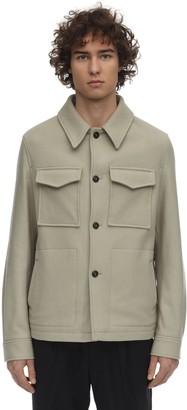 Ami Alexandre Mattiussi Wool Felted Shirt Jacket