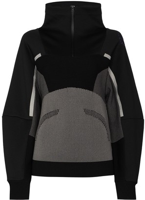 adidas by Stella McCartney Ribbed-Knit Performance Sweatshirt