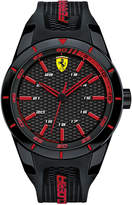 Ferrari Scuderia Mens Redrev Black Silicone Strap Watch 44mm 0830245