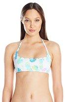 Pilyq Women's Pina Colada Reversible Seamless Wave Bikini Top