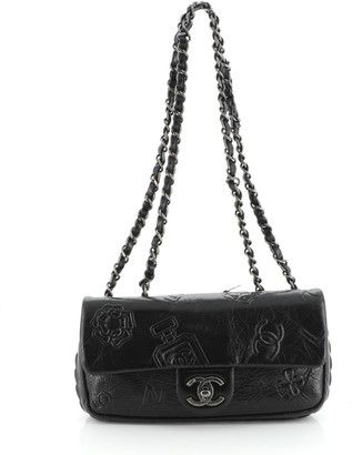 Chanel Precious Symbols Flap Bag Embossed Leather Small