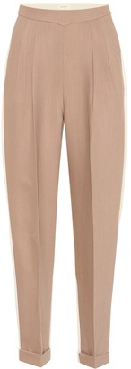 DELPOZO High-rise wool and silk pants