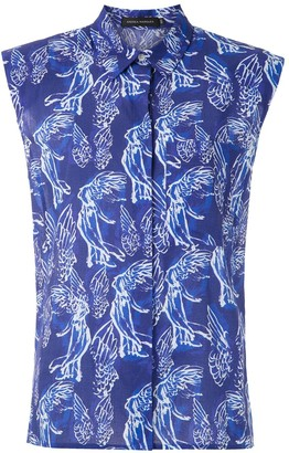 Andrea Marques structured shoulders printed shirt
