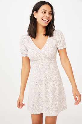 Cotton On Brianna Ruched Front Mini Dress