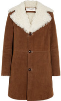 Saint Laurent Shearling-lined Suede Coat - Camel