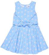 Florence Eiseman Sleeveless Bow-Print Tie-Front Dress, Size 2-6X