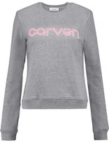 Carven Embroidered Cotton-Jersey Sweatshirt