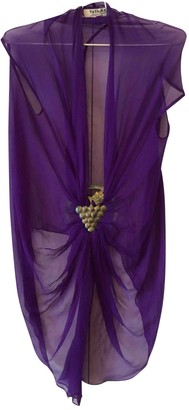 Tata-Naka Purple Silk Top for Women