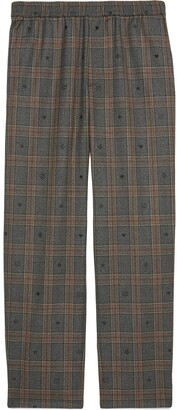 Gucci plaid GG trousers