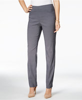 Charter Club Petite Cambridge Geo-Print Slim-Leg Pants, Only at Macy's