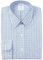 Brooks Brothers Check Print Trim Fit Dress Shirt