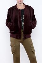 J.o.a. Faux Fur Bomber Jacket