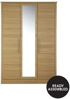 Consort Furniture Limited New Liberty 3-Door Mirrored Wardrobe