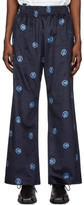 Martine Rose Navy Pyjama Fit Trousers