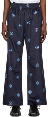 Martine Rose Navy Pyjama Fit Trousers