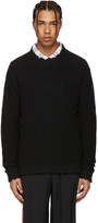 MSGM Black Destroyed Sweater