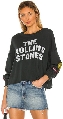 Daydreamer Rolling Stones Start Me Up Long Sleeve Crop Tee