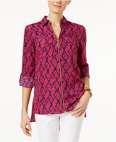 MICHAEL Michael Kors Printed High-Low Blouse