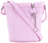Rochas small patent bucket bag with chain