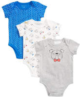 First Impressions 3-Pk. Puppy Cotton Bodysuits, Baby Boys, Created for Macy's