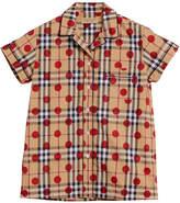 Burberry polka dot check shirt