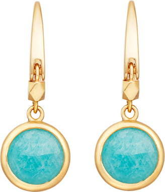 Astley Clarke Stilla 18ct gold-plated amazonite earrings