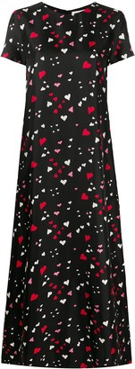 La DoubleJ Swing heart-print maxi dress