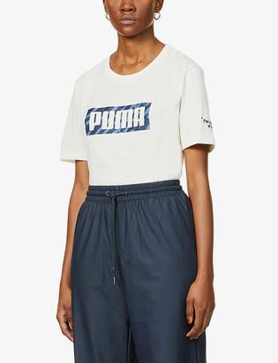 Puma x Central Saint Martins logo-print cotton-blend T-shirt