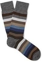 Marcoliani - Striped Merino Wool-blend Socks