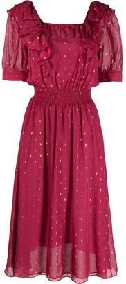 BA&SH Romeo polka-dot midi dress