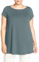 Eileen Fisher Plus Size Women's Jersey Bateau Neck Tunic