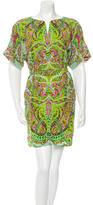 Yoana Baraschi Paisley Print Cutout Dress