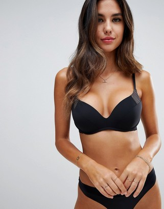 Wonderbra minimal chic wireless push-up bra a - dd cup-Black