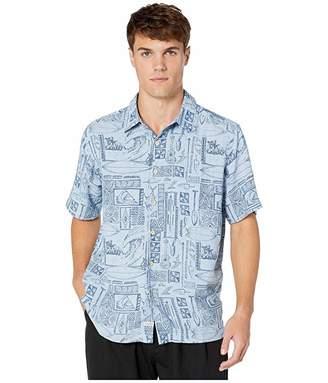 Quiksilver Waterman Vaianae Bay (Dusty Blue) Men's Clothing