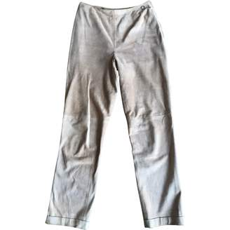 Chanel Beige Suede Trousers