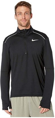 Nike Element Top 1/2 Zip 3.0 (Black/Reflective Silver) Men's Clothing