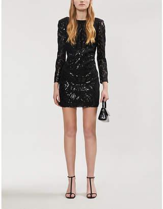 Claudie Pierlot Ruban lace mini dress