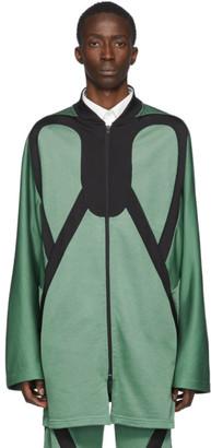 KIKO KOSTADINOV Green and Black Lasso Zip Jacket