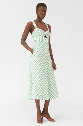 Rebecca Taylor Emerald Stripe Dress