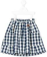 Bobo Choses Jane gingham check skirt
