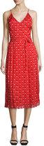 Christopher Kane Sleeveless Heart-Print Midi Dress, Red