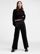 DKNY Wide Leg Pleat Pant