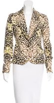 Just Cavalli Abstract Print Fitted Blazer