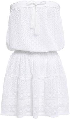 Melissa Odabash Fru Strapless Embroidered Voile Mini Dress