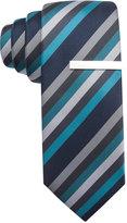 Alfani Men's Diagonally Striped Skinny Tie, Only at Macy's