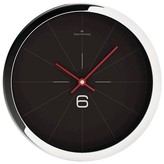 "Oliver Hemming Wall Clock with Modern Line Dial - Black (16"")"
